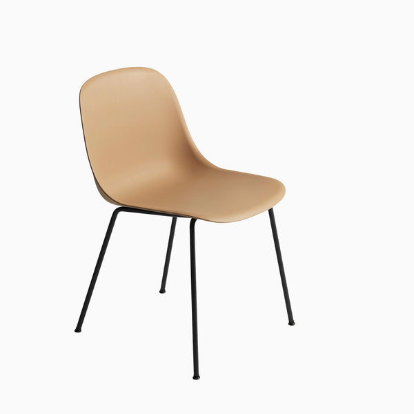 Muuto Fiber Side Chair Tube Base Ochre