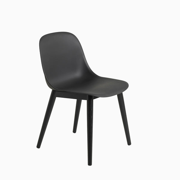 Muuto Fiber Side Chair Wood Base Black