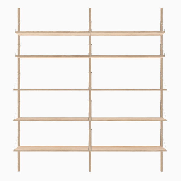 Frama Shelf Library H1852 Double Section White
