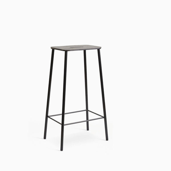 Frama Adam Stool 76cm Black Leather