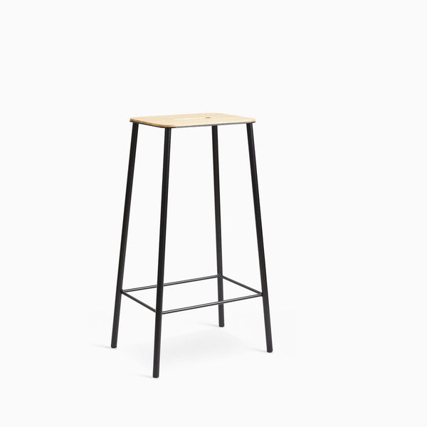 Frama Adam Stool H76cm Black Oak Seat