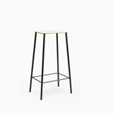 Frama Adam Stool H76cm Leather Black