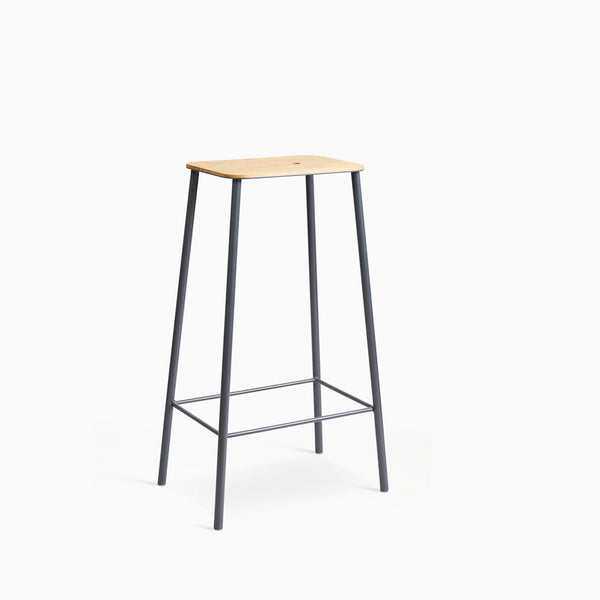 Frama Adam Stool H76cm Oak Grey