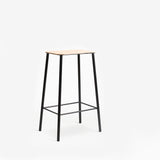 Frama Adam Stool 65cm Natural Leather Black