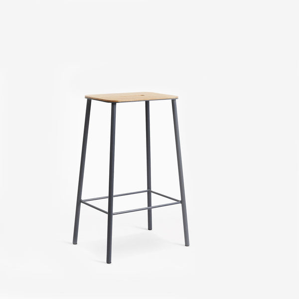 Frama Adam Stool 65cm Oak Grey