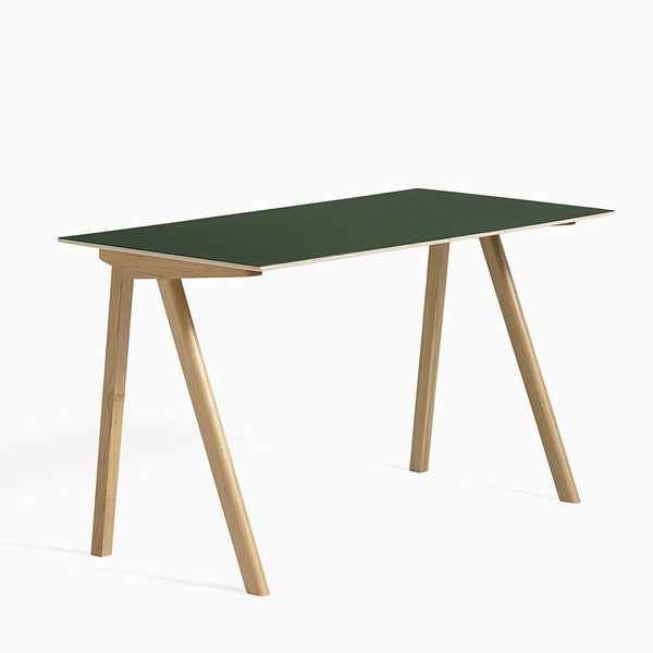 HAY CPH90 Desk Green Clear Lacquered Oak