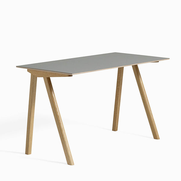 HAY CPH90 Desk Grey Clear Lacquered Oak