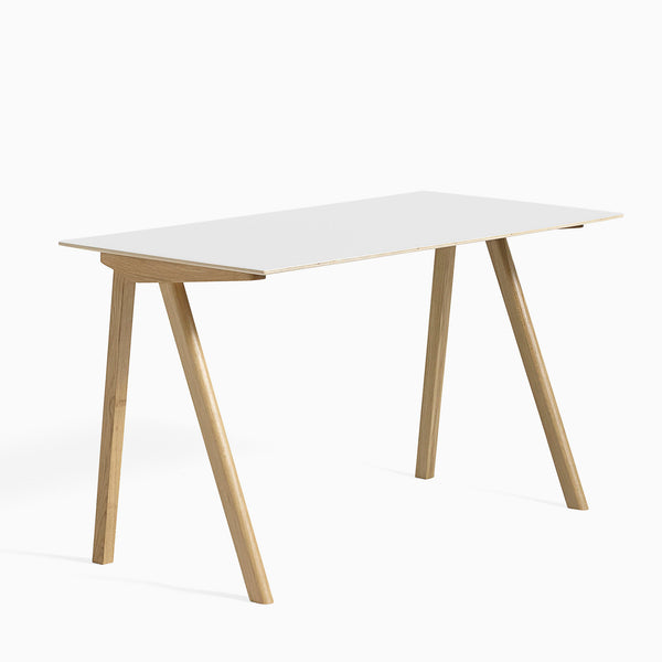 HAY CPH90 Desk White Clear Lacquered Oak