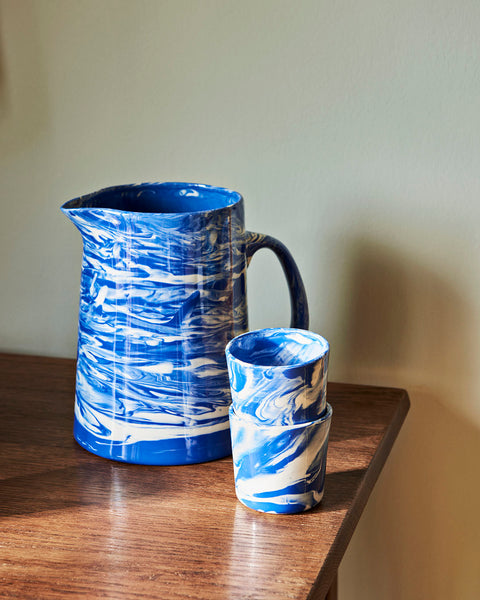 HAY Marbled Cup Blue