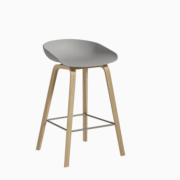 HAY About A Stool AAS32 Concrete Oak