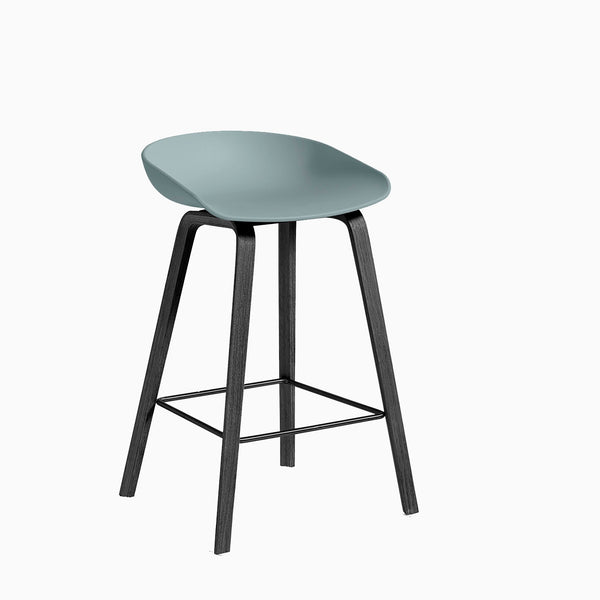 HAY About A Stool AAS32 Dusty Blue Black