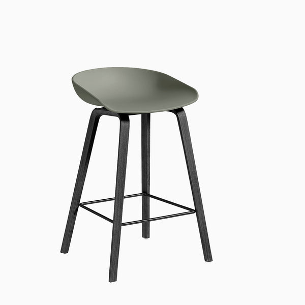 HAY About A Stool AAS32 Dusty Green Black