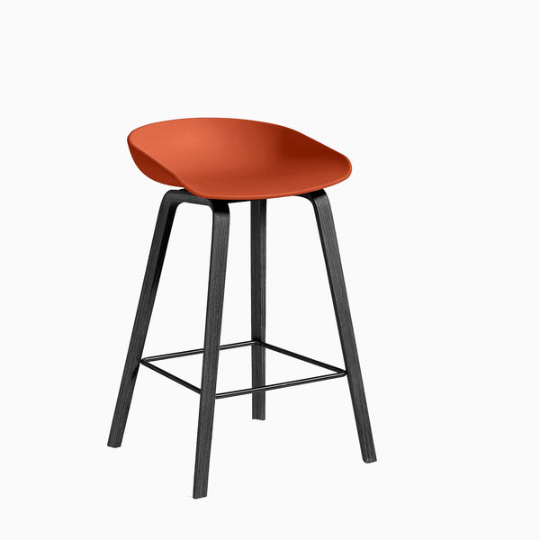 HAY About A Stool AAS32 Orange Black