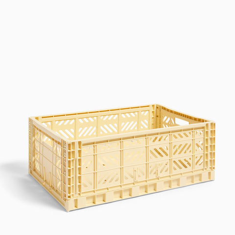 HAY Colour Crate Large Light Yellow