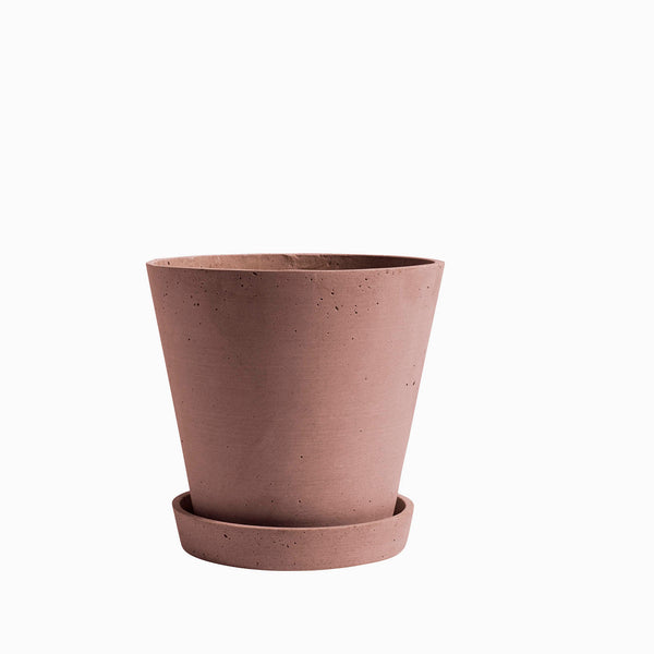 HAY Flowerpot with Saucer Terracotta Extra Large