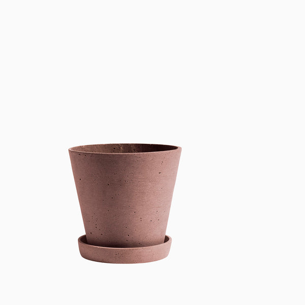HAY Flowerpot with Saucer Terracotta Large