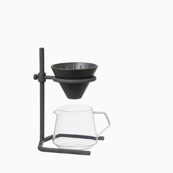 Kinto 2 Cup Brewer Stand Set - Black