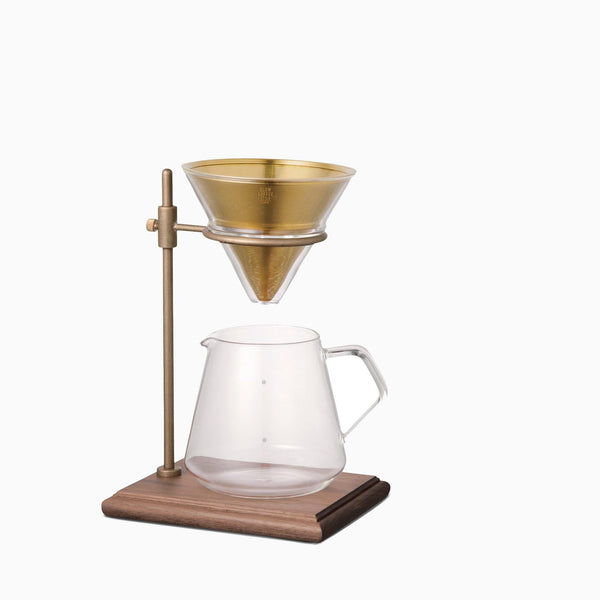 Kinto 4 Cup Brass Brewer Stand Set