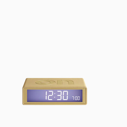 Lexon Flip Alarm Clock Metallic Soft Gold