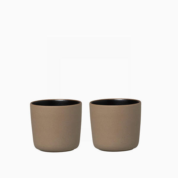 Marimekko Oiva Cup Terra/Black Set of 2