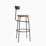 Menu Afteroom Bar Chair Black Cognac Leather