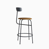 Menu Afteroom Counter Chair Black Cognac Leather