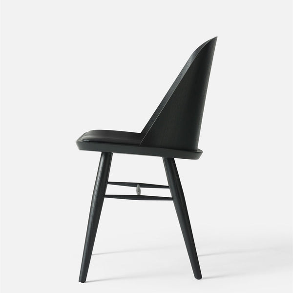 Menu Synnes Chair Black Leather Side View