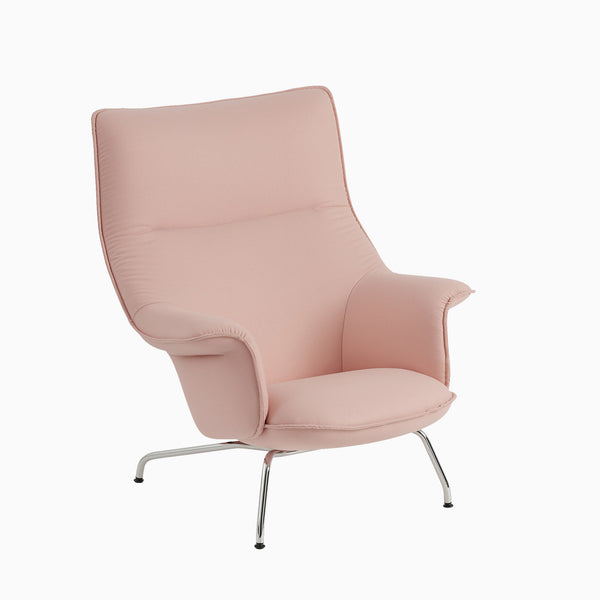 Muuto Doze Lounge Chair Forest Nap 512 Chrome Base