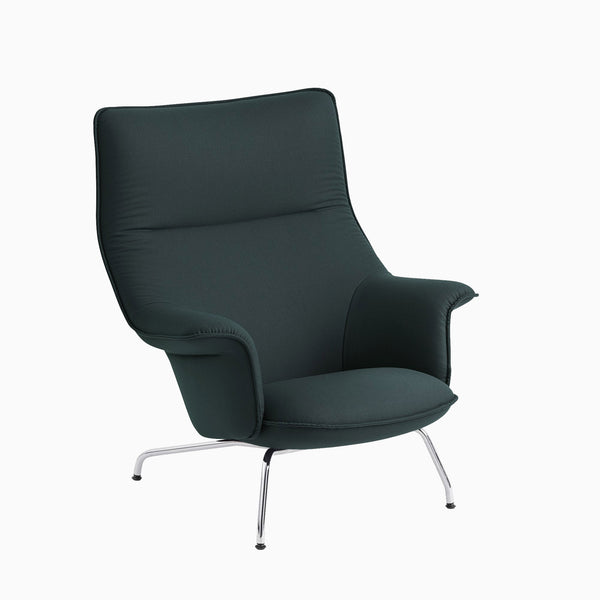 Muuto Doze Lounge Chair Forest Nap 992 Chrome Base