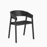 Cover Chair Leather Black