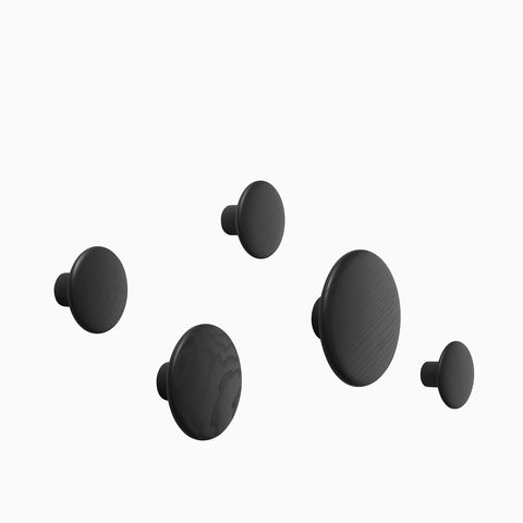 Muuto Dots Black Set of 5