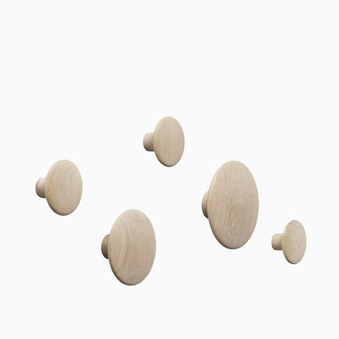 Muuto Dots Oak Set of 5