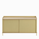 Muuto Enfold Sideboard Low Sand Yellow with Oak Top