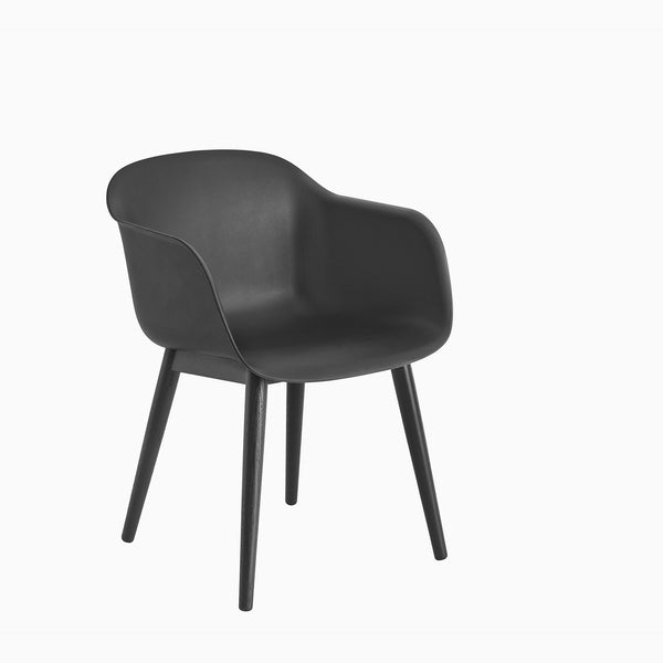 Muuto Fiber Armchair Wood Base Black
