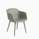 Muuto Fiber Armchair Wood Base Grey
