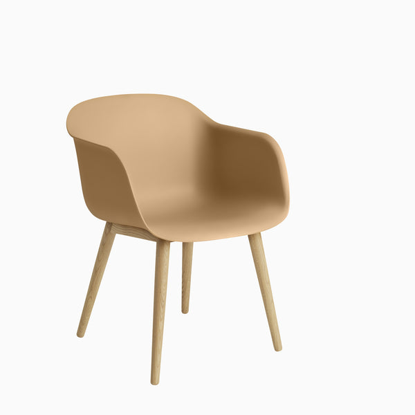 Muuto Fiber Armchair Wood Base Ochre / Oak