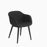 Muuto Fiber Armchair Wood Base Remix 183 Black