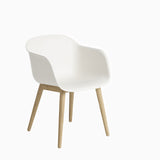 Muuto Fiber Armchair Wood Base Oak White