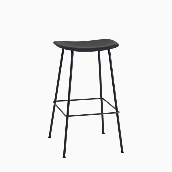 Muuto Fiber Bar Stool Tube Base Black
