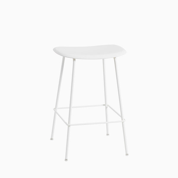 Muuto Fiber Bar Stool Tube Base White