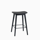 Muuto Fiber Bar Stool Wood Base Black