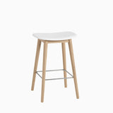 Muuto Fiber Bar Stool Wood Base White