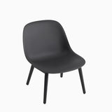 Muuto Fiber Lounge Chair Wood Base Black