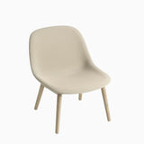Muuto Fiber Lounge Chair Wood Base Steelcut Trio 236
