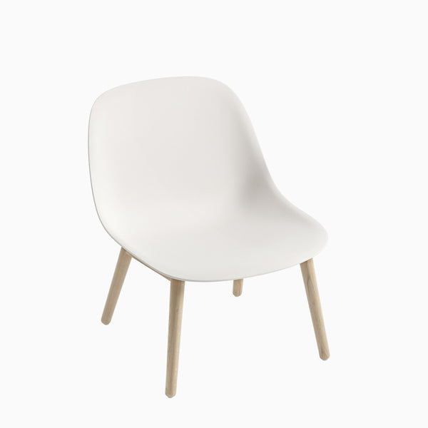 Muuto Fiber Lounge Chair Wood Base White