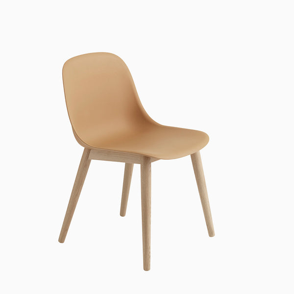 Muuto Fiber Side Chair Wood Base Ochre Oak