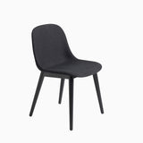 Muuto Fiber Side Chair Wood Base Remix 183 Black