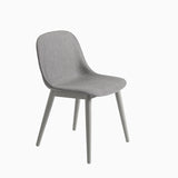 Muuto Fiber Side Chair Wood Base Remix 133 Grey