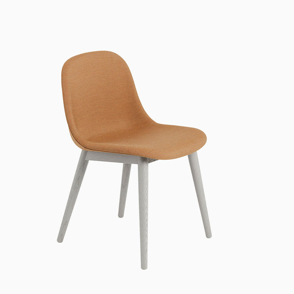 Muuto Fiber Side Chair Wood Base Remix 433 Grey