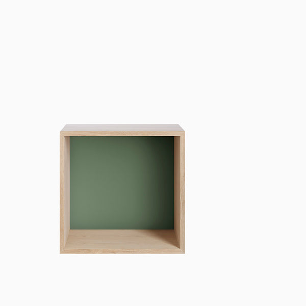 Muuto Mini Stacked Medium Ash with Dusty Green Backboard